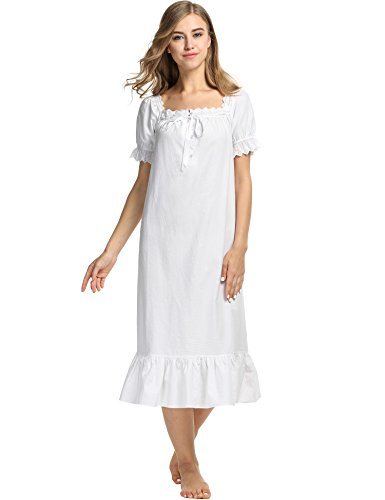 Avidlove Womens Cotton Victorian Vintage Short Sleeve