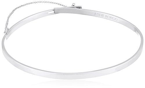EDDIE BORGO Extra Thin Safety Chain Silver Choker Necklace by EDDIE BORGO
