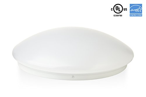Hyperikon LED Flush Mount Ceiling Light 14 18W 75W equivalent 1620lm 4000K Daylight Glow 120° Beam Angle 120-277V UL and ENERGY STAR Listed 14-Inch Flush Mount Instant-On