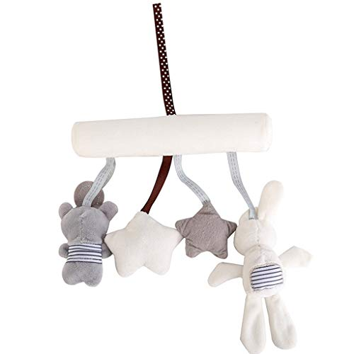 NszzJixo9 Baby Child Carriage Hanging Rabbit Bed Bell Music Safety Seat Pendant Plush Toys Wall Hanging Kids Room-Decor for Bedroom Girls' Kids Room - Lighthouse Octagon Mirror
