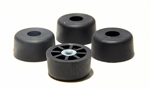 Round Rubber Feet - 4 Extra Large Tall Round Rubber FEET Bumpers - .750 H X 1.500 D - Made in USA - Perfect for Furniture, Sofas, Tables, Chairs, desks and Other Large Items.