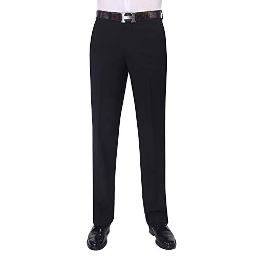 P&L Men's Elegant Modern Fit Flat Front Suit Pants