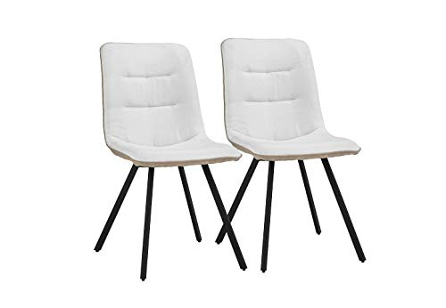 Upholstered 2 Piece Linen Dining Chairs, 19