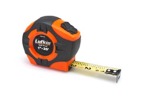 Lufkin PQR1425 Quickread Power Return Tape, 1-Inch by 25-Feet, Hi-Viz Orange (Viz Hi Return Power Tape)