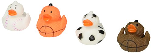 Lot Of 12 Assorted Sports Themed Rubber Ducks Duckies - Soccer Rubber Duck