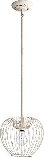 Quorum 1 Light Down Pendant in Persian White (White Persian Pendant)