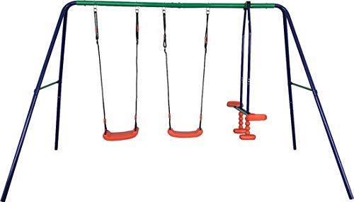 Maxx Schaukel - Gartenschaukel für Kinder - stabile Schaukel mit insgesamt DREI Schaukelsitzen - mit Brettschaukel und Gondel