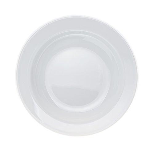 - 6-Piece Pasta/Salad/Soup PLATES, White Porcelain, Restaurant&Hotel Quality, size 9''