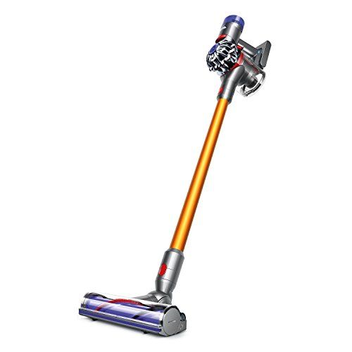 Dyson V8 Absolute Cordless HEPA Vacuum Cleaner + Fluffy Soft Roller and Direct Drive Cleaner Head + Wand Set + Mini Motorized Tool + Dusting Brush + Docking Station + Combination Tool + Crevice Tool by Dyson