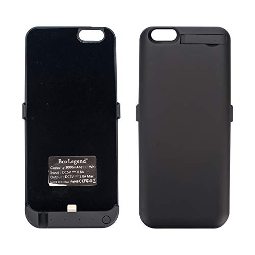 BoxLegend 3000mAh Polymer Battery Charger Charging Case for iphone 6/6s - Black