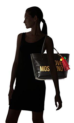 BORSA DONNA LOVE MOSCHINO SHOPPING ECOPELLE SOFT GRAIN COL. NERO BS18MO131 Nero