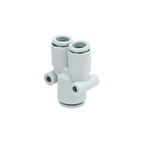 Different diameter union Y SMC KQ2U02-04A One-touch Fitting White Colour