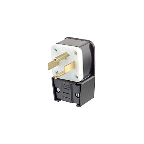 Leviton 9432-P 30 Amp, 125/250 Volt, Straight Blade, Plug, Industrial Grade, Grounding, Angle, ()