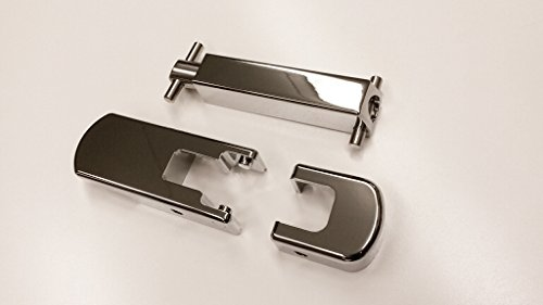 HPC Hummer H2 Billet Aluminum Chrome Hood Latch & Hood Spring Set (Latches Billet Aluminum Hood)