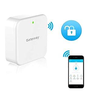 SMONET Smart Door Lock WiFi Gateway, Bluetooth Keyless Entry Electronic Door Lock Wi-Fi Bridge, TTLock Smart Deadbolt… Doors