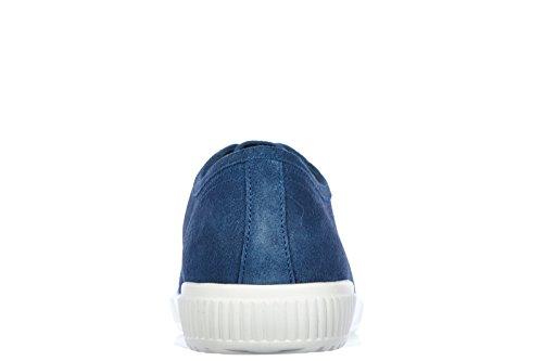 Prada chaussures baskets sneakers homme en daim blu
