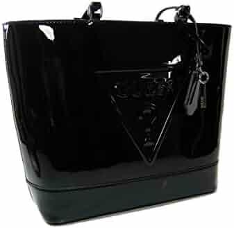 ad7f5b4cdbc New Guess Logo Signature Purse Shoulder Hand Bag Tote Black Patent Glossy  Shinny
