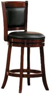 Amazon Com Homelegance Shapel Swivel Counter Height Barstool 25 Sh Cherry Solid Back Furniture Decor