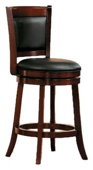 Homelegance Shapel Upholstered Back Barstool, 24-Inch Homelegance Upholstered Chair