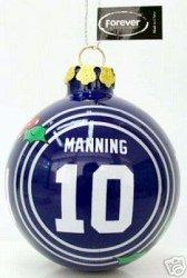 Eli Manning New York Giants Glass Ball Christmas Ornament (Glass New Ornament Giants York)