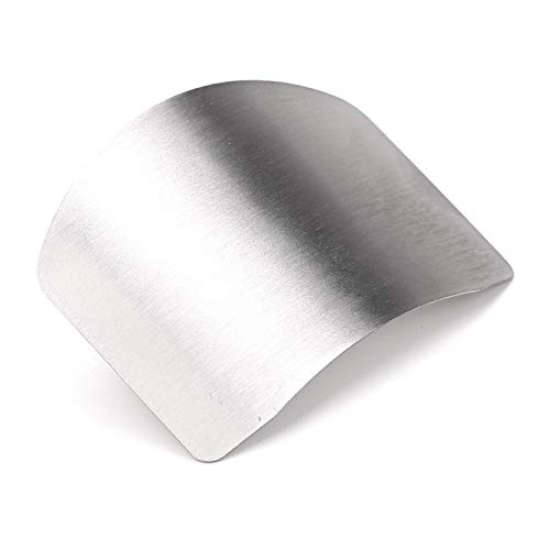 Zelta Finger Guard Digiclass Slicing Cutting Protector 2.6 Inches Stainless Steel Finger Protector Cutting ()