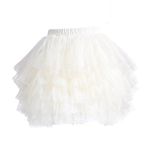 Baby Girls' Tutu Skirt Toddler 6 Layered Tulle Tutus 1-8T]()