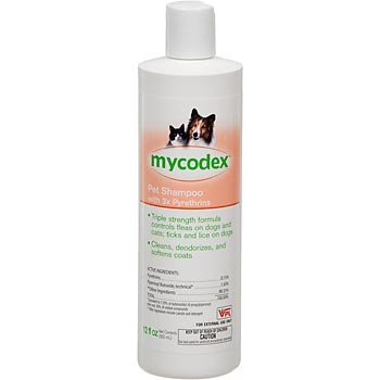 Shampoo Mycodex Pet (Mycodex Flea-tick Pet Shampoo with 3x Pyrethrins 12 oz)