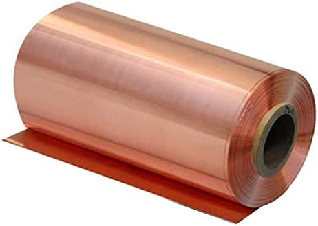 Fly-Fiber 99,9% reines Kupfer Cu Blech Foil Bearbeitbarer T2 Kupferblatt Bleifreier Kupfer Sicher Blatt Folie 200mmx1000mm,Thickness: 0.05mm