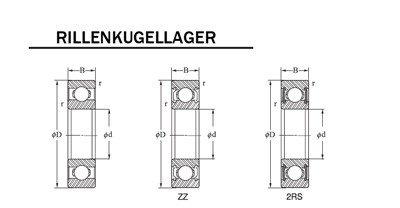 Roulement /à billes SKF 6001 ZZ 12 x 28 x 8 mm