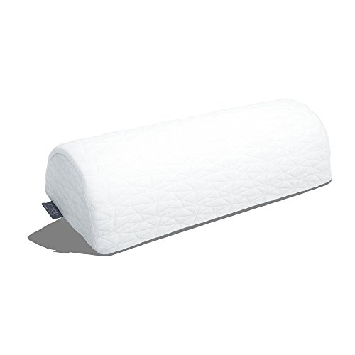 Coop Home Goods - Memory Foam Support with Removable Cover & Adjustable Inserts to Relieve Back, Neck, Knee and Ankle Pain - 4 Position Half-Moon Bolster/Wedge Pillow - Single - White (Best Reading Position For Neck)