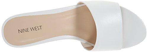 la cuero sandalia White plataforma de West confetty Nine la de w0aHWq