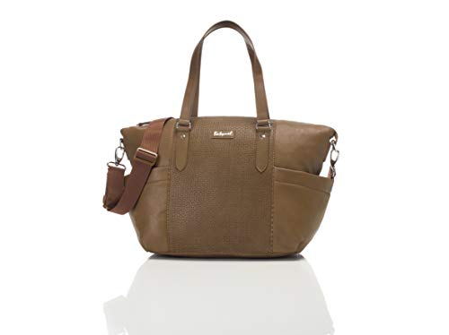 Babymel Anya Vegan Leather Diaper Bag, Tan |  Generous Stora