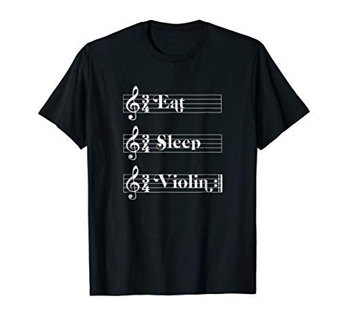 Eat Sleep Violin Repeat - Sheet Music T-Shirt for Violinist (Chopin Nocturne No 20 Violin Sheet Music)
