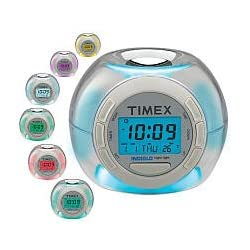 Timex T035W4 Color Changing Alarm Clock with Soothing Sounds (White)