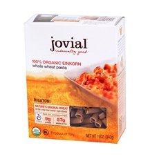 Jovial Organic Whole Grain Einkorn Rigatoni Pasta, 12 Ounce - 12 per - Meal Rigatoni