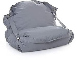 Waterproof Polyester Bean Bag, Medium - Gray [WP-Gray-M]