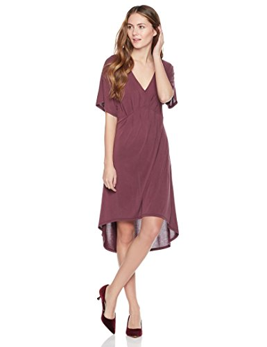 Painted Heart Women's Kimono Sleeve V-Neck Pleated Front Midi Dress