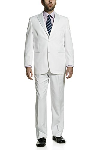 P&L Mens Two Piece Tuxedo 2 Button Blazer & Trousers Suit for Prom or Wedding ()