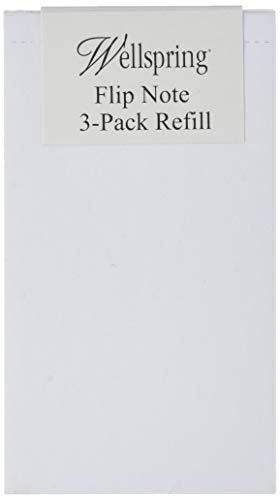 Wellspring Flip Note Refill Pad, Blank Paper, 3 per Pack (2204)