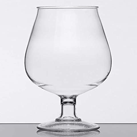16 oz. Plastic Brandy Glasses, Break Resistant Dishwasher Safe Polycarbonate, GET BRA-2-PC-CL-EC (Pack of 4), Medium