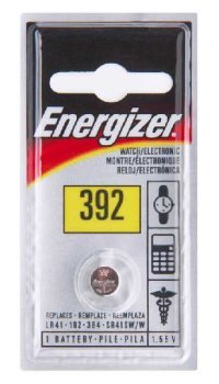 Energizer Watch/Electronic Battery 1.55 Volt 392 1 Each