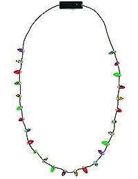 Lotsa Lites Christmas Holiday Flashing Light Bulbs Necklace (sold individually)