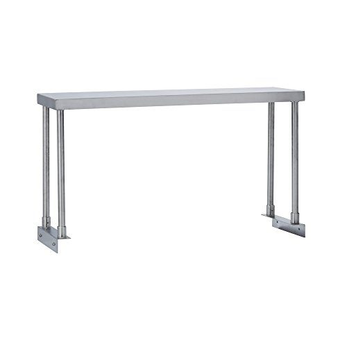 Fenix Sol Commercial Kitchen Stainless Steel Single Overshelf for Work Tables, 18'' W x 72''L x 19''H, NSF Certified by Fenix Sol (Image #1)