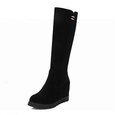 Marron Mode Noir Décontracté 5 à Bottes 5 à 7 Hiver Automne la amp;xuezi 9 Cuir GLL black Nubuck Femme Bottes Confort cm wOx0nFq6