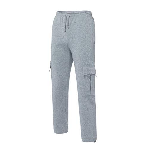 Tuta gray Casual Zolimx Grigio Lavoro Pantaloni Pantalone Lunghi Uomini Uomini Impiombatura Pocket Sport qf6wU