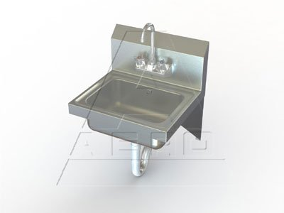 Aero Wall Mount Stainless Hand Sink, 15 x 17 inch - 1 each.