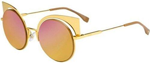 Fendi EYESHINE FF 0177/S 001/OJ Yellow Gold / Fushia Gold Sunglasses