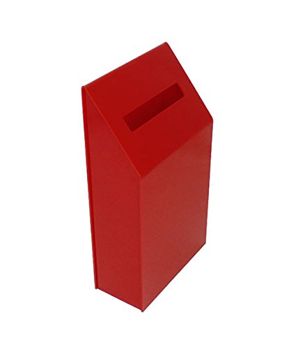 Source One LLC RED Comment / Suggestion / Donation Box - Medium - Counter Top or Wall Mount