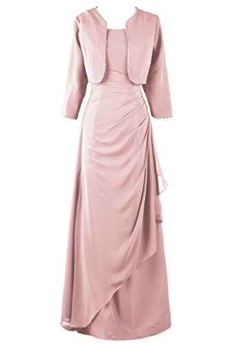 Dresstore Womens Chiffon Mother Of The Bride Dress With Jacket Beaded Formal Gowns Blush Us 24Plus