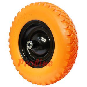 2 x 16'' Flat Free Tubeless Tire Wheel For Hand Truck Carts 5/8'' Wheelbarrow